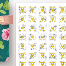Load image into Gallery viewer, Marble and Foil Small Banner Functional Planner Stickers