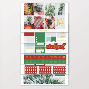 Foil Puppy Christmas Weekly Kit for Erin Condren