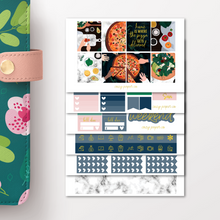 Load image into Gallery viewer, Pizza Night Weekly Sticker Kit for Erin Condren Vertical
