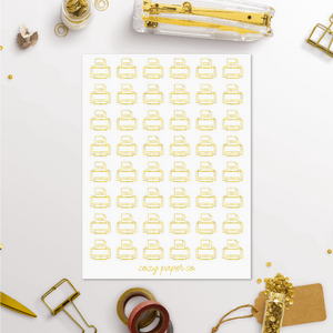 Foil Printer Work Icon Planner Stickers