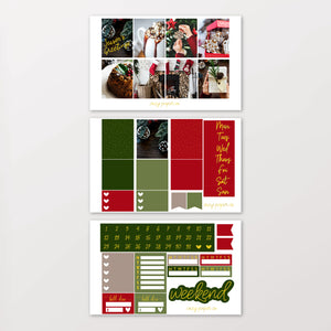 Foil Rustic Christmas Weekly Kit for Erin Condren