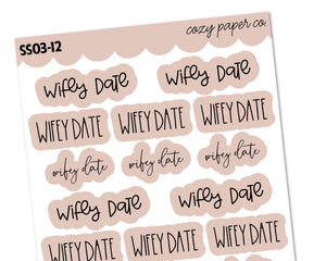 COLOR BUNDLE - Wifey Date Scripts Sampler