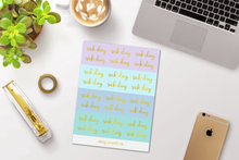 Load image into Gallery viewer, Foil Sick Day Script Word Stickers