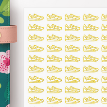 Load image into Gallery viewer, Foil Sneakers Workout Icon Planner Stickers