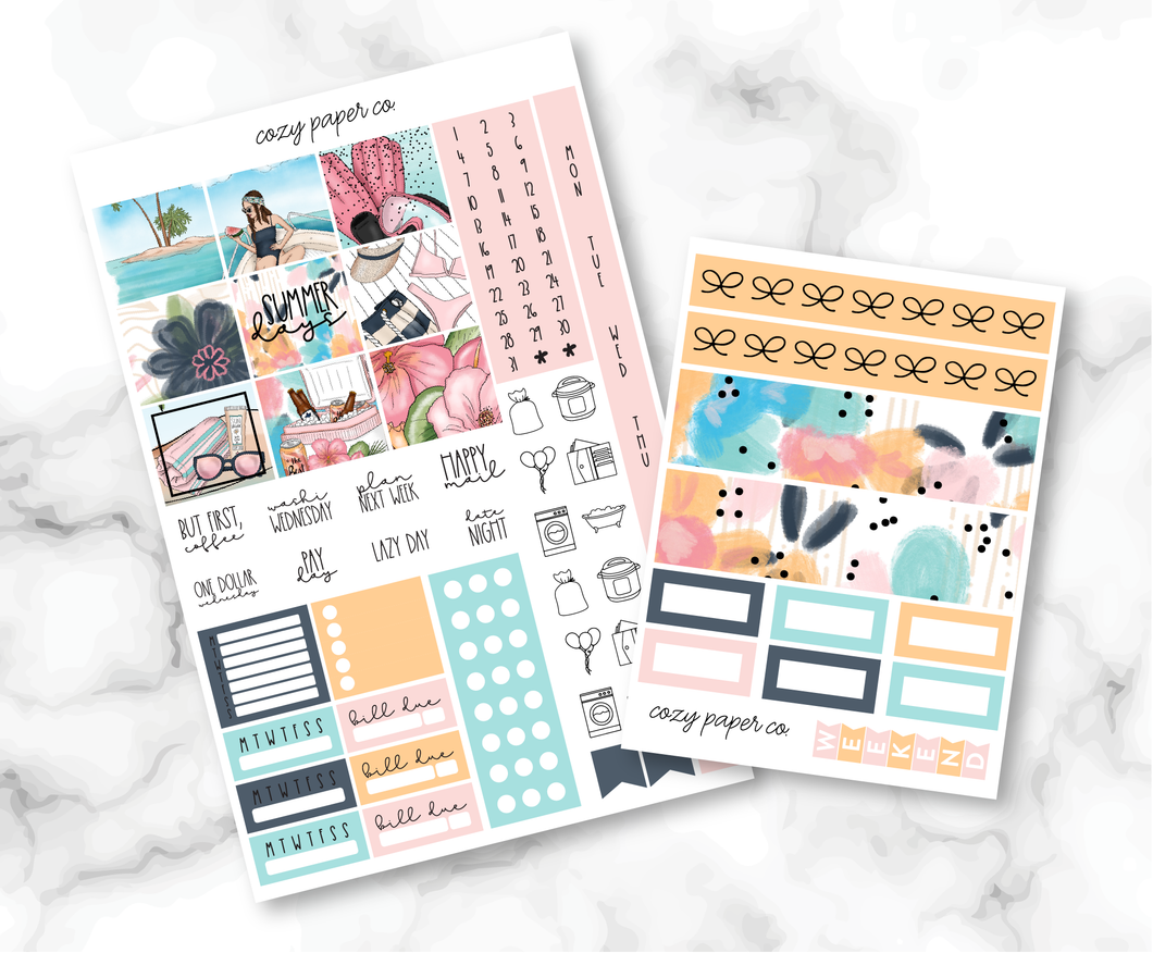 Foil Summer Days Weekly Kit (Hobo Weeks)