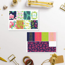 Load image into Gallery viewer, Foil Tropical Summer Weekly Sticker Kit for Erin Condren