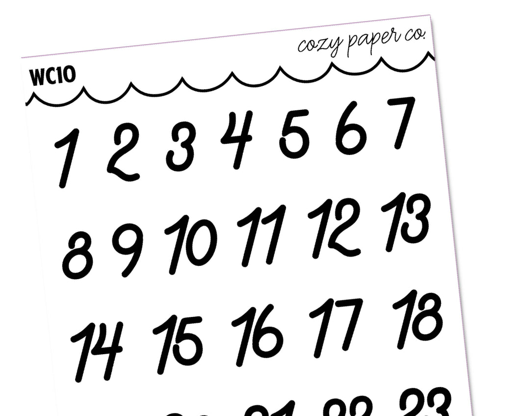 Clear Date Dots (Large)