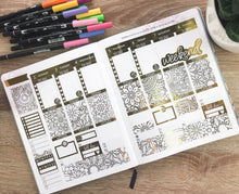 Load image into Gallery viewer, Foil Overload Coloring Weekly Sticker Kit for Erin Condren