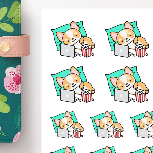 character stickers cozy paper co