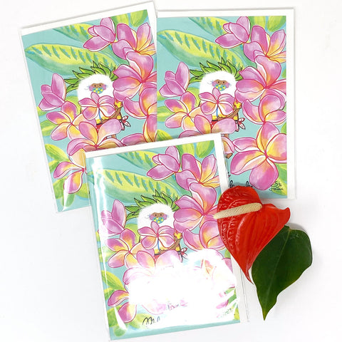 SANTA PLUMERIA GREETING CARD