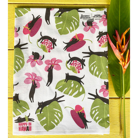 BLACK CATS HAWAII kitchen towel