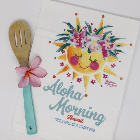 ALOHA MORNING kitchen towel