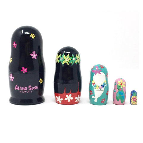Aloha Susu wooden Nesting Doll 5pc Set