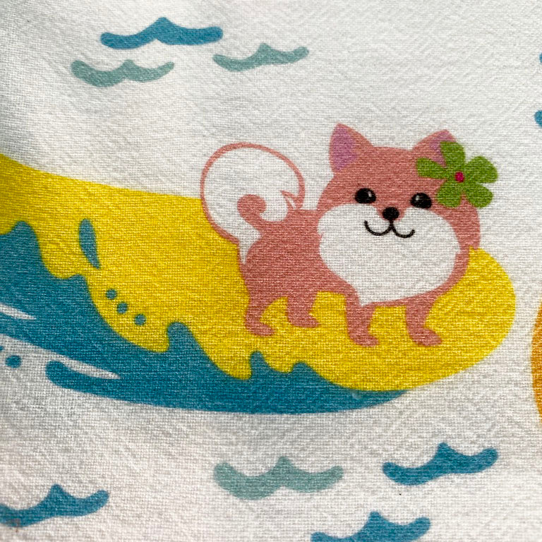 SURFING DOGS kitchen towel