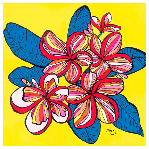 FRANGIPANI FULL OF LIFE print