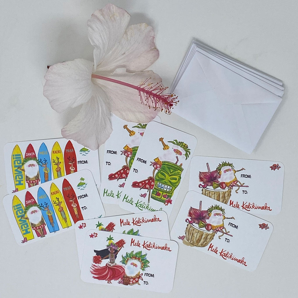 MINI GIFT CARDS SET - Santa Collection Mix (8 cards & 8 envelopes)