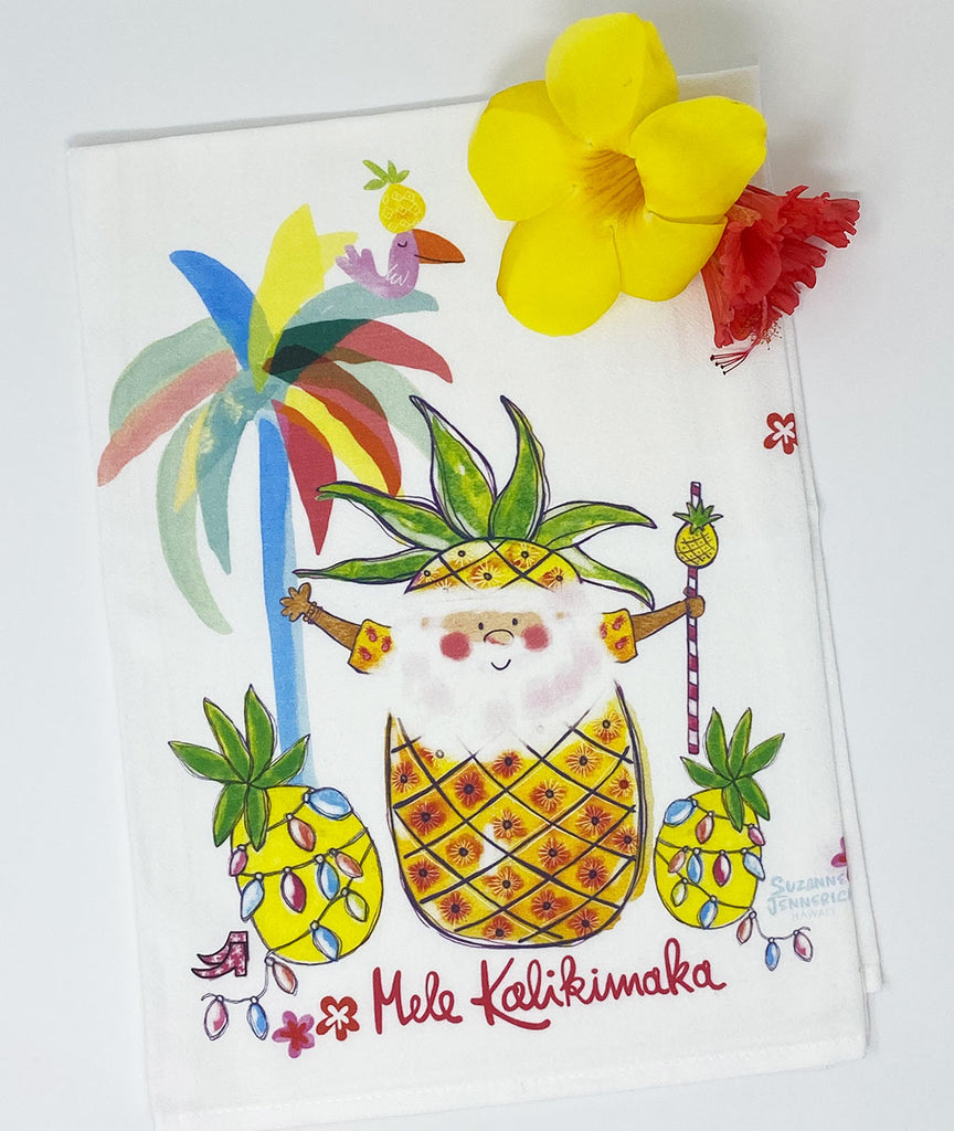 SANTA PINEAPPLE kitchen towel