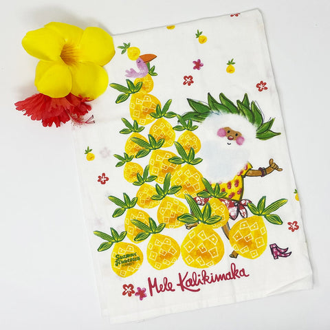 SANTA PINEAPPLE TREE kitchen towel