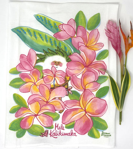 SANTA PLUMERIA kitchen towel