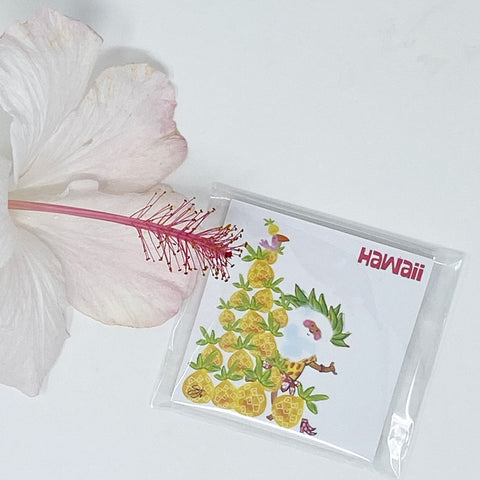 2 STICKY NOTES PAD SETS - Santa Pineapple Tree & Catamaran