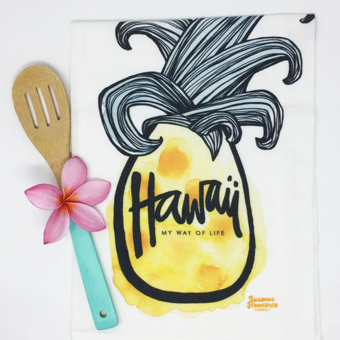 PINEAPPLE SURF kitchen towel