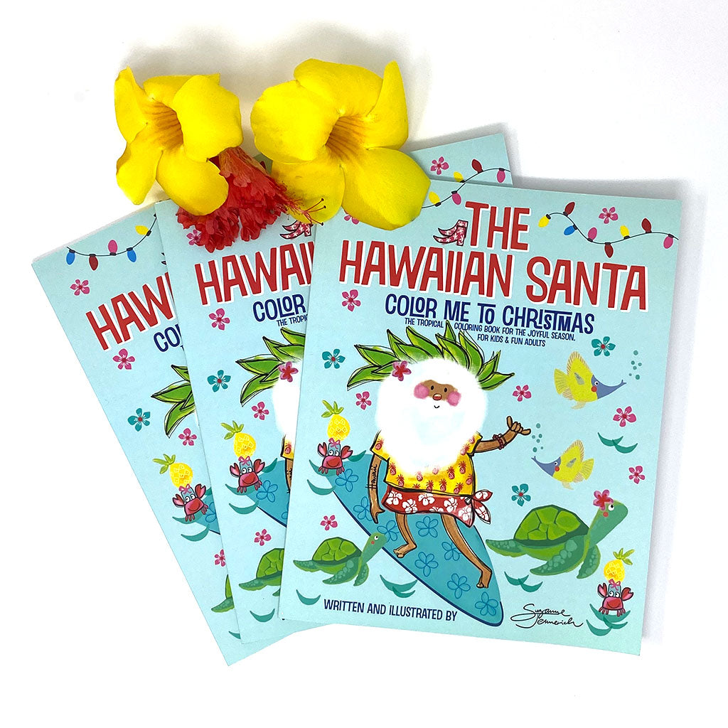 Coloring Book - The Hawaiian Santa