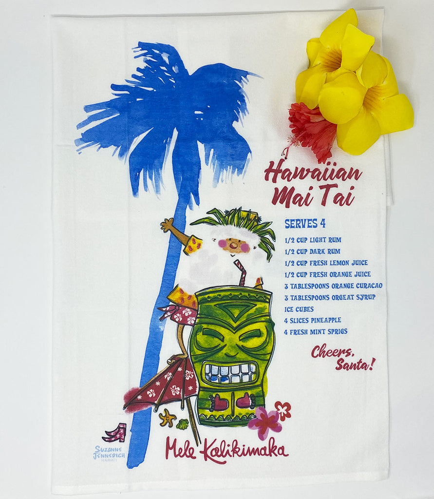 SANTA MAI TAI kitchen towel