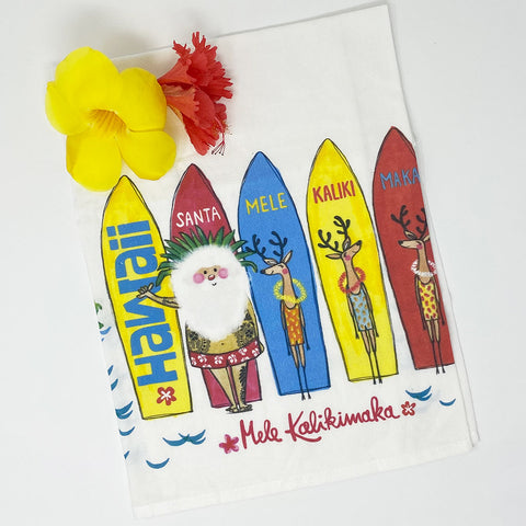 SANTA SURF kitchen towel