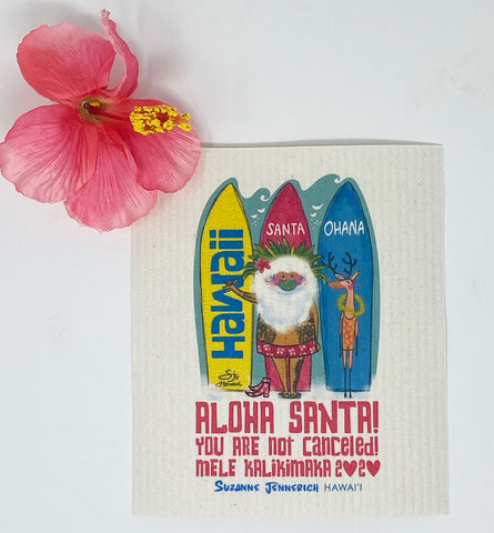 SWEDISH DISHCLOTH - Santa Surf