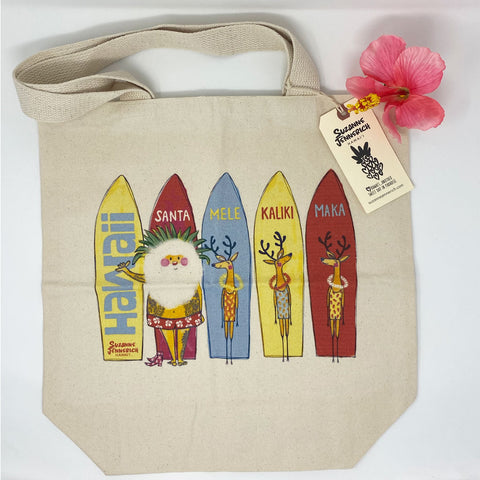SANTA SURFBOARDS tote bag