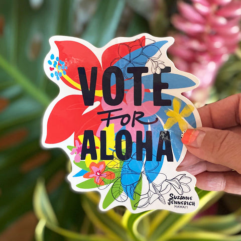 4 VOTE FOR ALOHA STICKERS