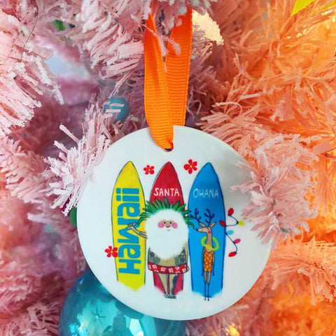 ORNAMENT SANTA SURF
