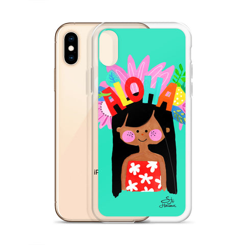 Aloha Girl Mint iPhone Case