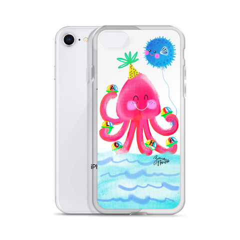 Pink Octopus iPhone Case