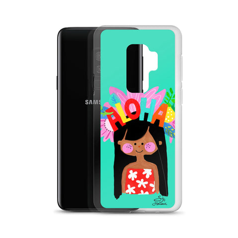 Aloha Girl Mint Samsung Case