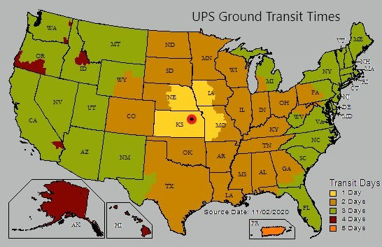 UPS Ground Shipping Info