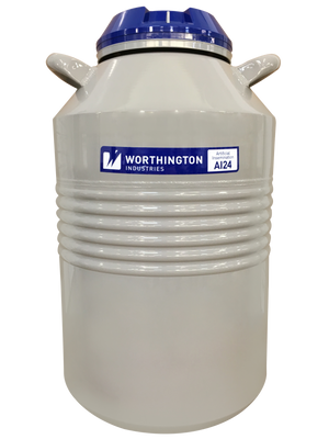 Nitrogen Tank, Worthington Industries AI24-11 w/ 6 canisters