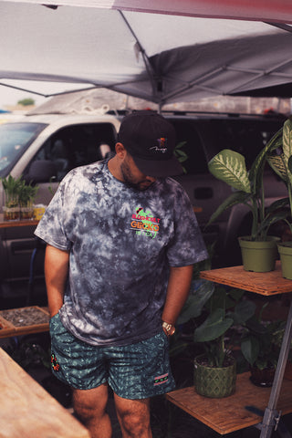 GECKO X SLUSHCULT: COAST TO COAST BLACK CRYSTAL TIE DYE