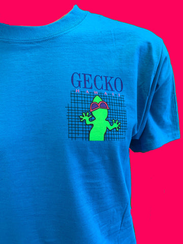 Gecko Grid - Turquoise Secret Shirt