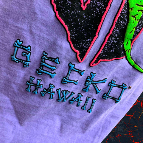 "Limited Edition 1988 HYPERFLASH""Gecko Lava Flow Logo"" PURPLE to PINK Longsleeve"