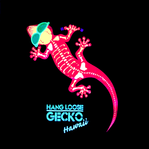 Gecko Bones Glow in the Dark Long Sleeve Tee Black - Limited
