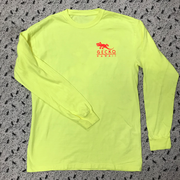 Gecko Bones Glow in the Dark Pigment Dyed Long Sleeve - Neon Yellow