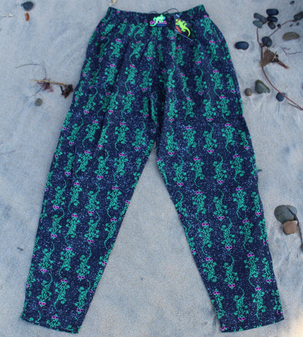 Gecko Hawaii 90s Camo Beach Pants - Dark blue
