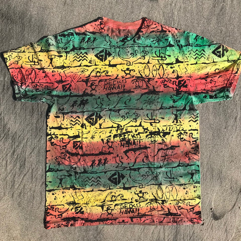 Tie Dye Tee Red/green/Yellow