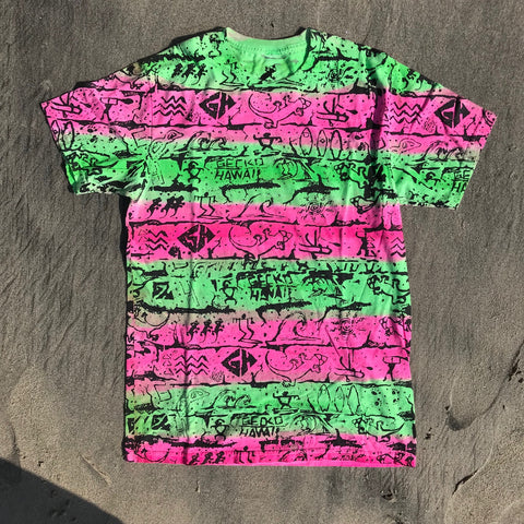 Neon Pink and Green Tie Dye