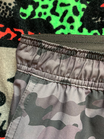 Gecko Hawaii's ULTRA COMFY Tech Shorts - Black/Grey Camo