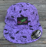 Mini Gecko Purple Five Panel Hat