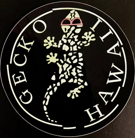 Gecko Hawaii Broken Circle Retro Surf Sticker