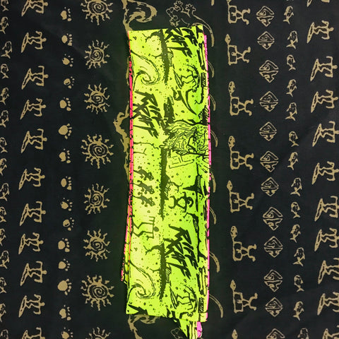 RiFF RaFF x Gecko Reversible Headband Neon Pink and Green