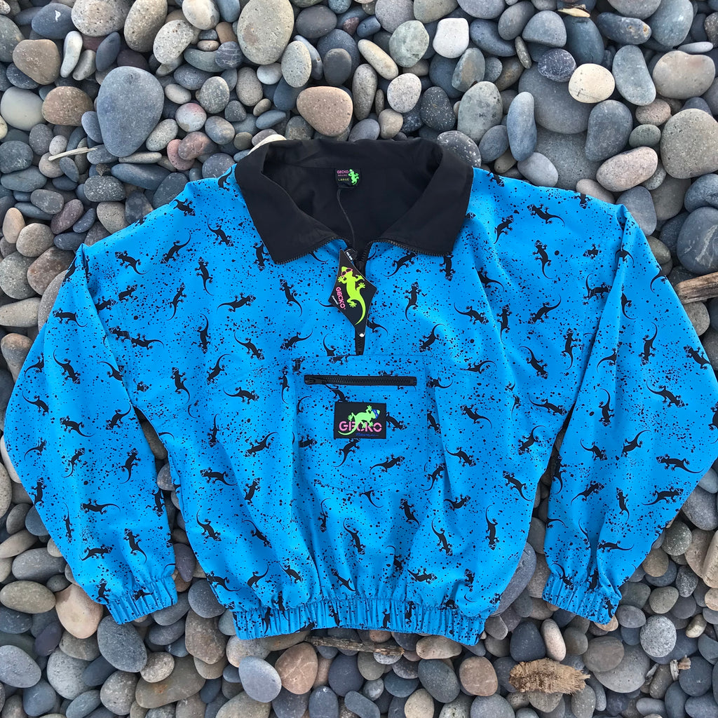 90s Forever Gecko Windbreaker Bright Blue